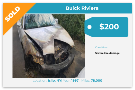 Sell Your Junk Car Today! Recently Sold 1997 Buick Riviera in Islip, NY