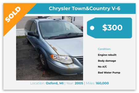 Sell Your Junk Car Today! Recently Sold 2005 Chrysler Town & Country in Oxford, MI