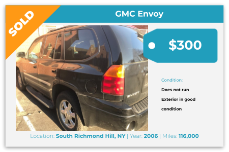Sell Your Junk Car Today! Recently Sold 2006 GMC Envoy in South Richmond Hill, NY