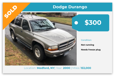 Sell My Junk Car Medford NY
