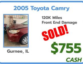 sell junk car chicago, IL Toyota Camry
