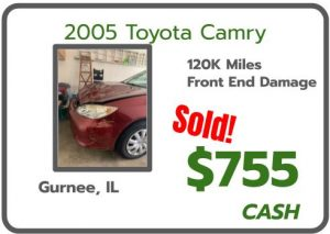 2005 Camry sold for Cash