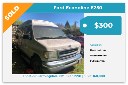 1998, ford, e250, cash for junk cars, junk cars, sell my car, we buy junk cars, buy junk cars, car junk yards