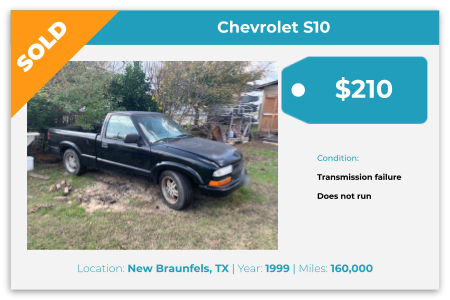 1999, Chevrolet, S10, cash for junk cars, junk cars, sell my car, we buy junk cars, buy junk cars