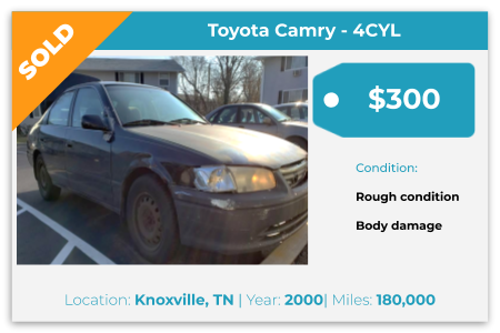 sell Toyota Camry for cash Knoxville, TN
