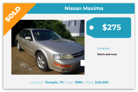 sell old Nissan, Temple, TX