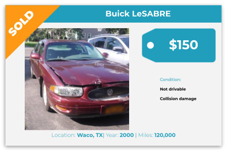 sell Buick for cash Waco, TX