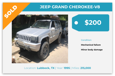 sell old Jeeps for cash Lubbock, TX