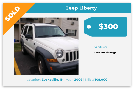 sell Jeep for cash Evansville, IN
