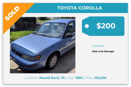 sell junk Toyota, Round Rock, TX